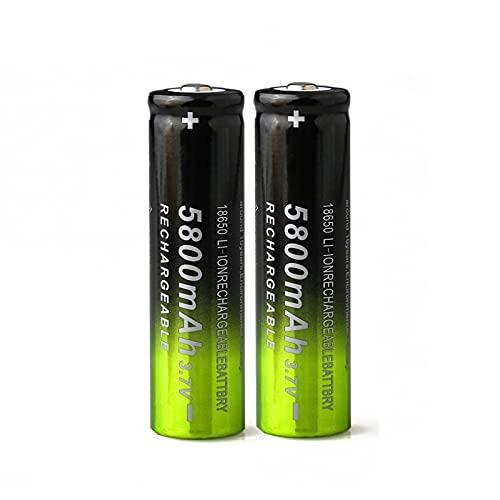goubes 3.7v 5800mah 18650 Li Ion Batería De Litio Recargable, Ampliamente Utilizada En Equipos De Audio con Linterna 2pcs
