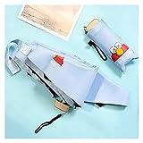 LYB Dibujos Animados 5 Mini Paraguas Plegable para Niños para Mujeres (Color : Sky Blue)