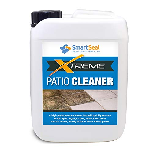 Smartseal Patio Clean Xtreme – Powerful, Highly Concentrated Patio Cleaner & Black Mould Spot Remover- for Natural Stone, Concrete, Paving Slabs, Indian Sandstone & Limestone (5 Litre)