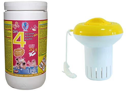PQS Lote-Cloro EN Pastillas 4 ACCIONES 20 Gramos DE 1 KG +...