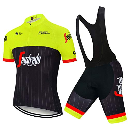 Ciclismo Maglie Professionisti Uomo Abbigliamento Ciclismo Estivo e Pantaloni/Salopetto Traspirante Imbotiti 3D Gel Maglia Zip Estiva MTB