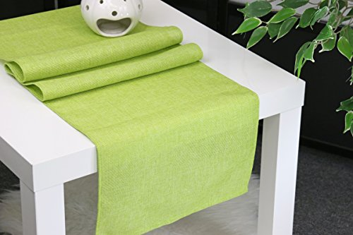 Aiking Home (Pack of 1) Natural Faux Linen Unlined Table Runner, Lime-Size 12''x62'' -Ideal for Wedding, Baby Shower, Party Decor, Thanksgiving, Christmas or Special Event.