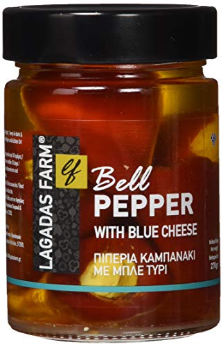 Lagadas Farm griechische Paprika Glocke gefüllt mit Blauschimmelkäse 270 g, 2er Pack