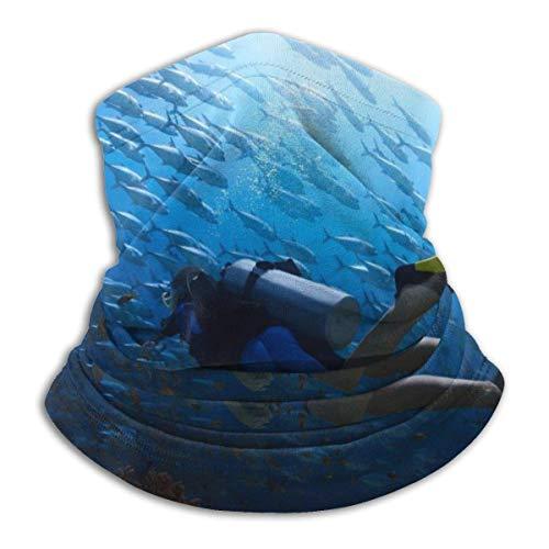 Dydan Tne Calentador de Cuello, Polaina, Deporte de Buceo, Gorros de Microfibra Suave, Bufanda Facial, máscara para Invierno, Clima frío para Hombres y Mujeres