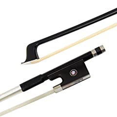 Crafted using advanced molding techniques,the violin bow is constructed of carbon fiber and other modern materials,delivers a new level of performance way,beyond that of traditional wood construction The way that this violin bow transfers string vibr...