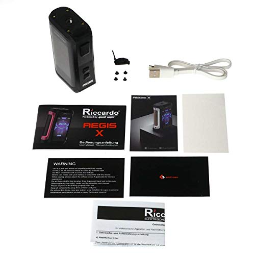 GeekVape Aegis X Box Mod 200 W, Riccardo e-Zigarette - Akkuträger, stealth black