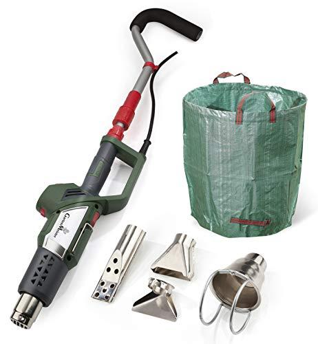 Heissluft-Unkrautvernichter Unkrautbrenner 3in1 Elektrisch + Jumbo Gartensack