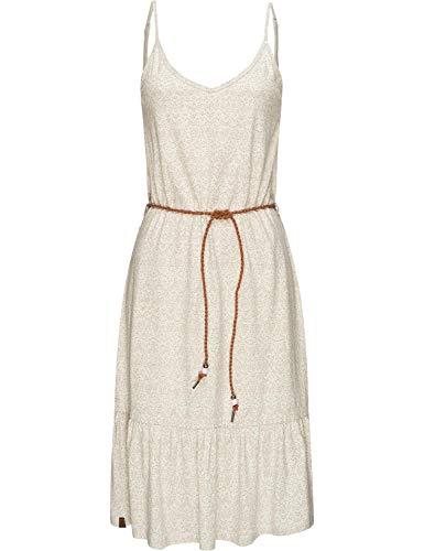 Ragwear Damen Kleid Dress Sommerkleid Jerseykleid Freizeitkleid Entie Weiß M20 Gr. XS