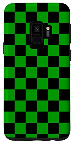 Galaxy S9 Checkered Phone Case Check Plaid Green and Black Case Case