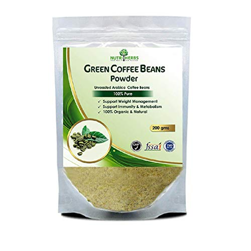 Nutriherbs 100% Pure And Natural Green Coffee Beans Powder – 200Gm (Pack of 1)