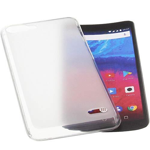 foto-kontor Tasche für Archos Core 55s Hülle Gummi TPU Schutz Handytasche transparent