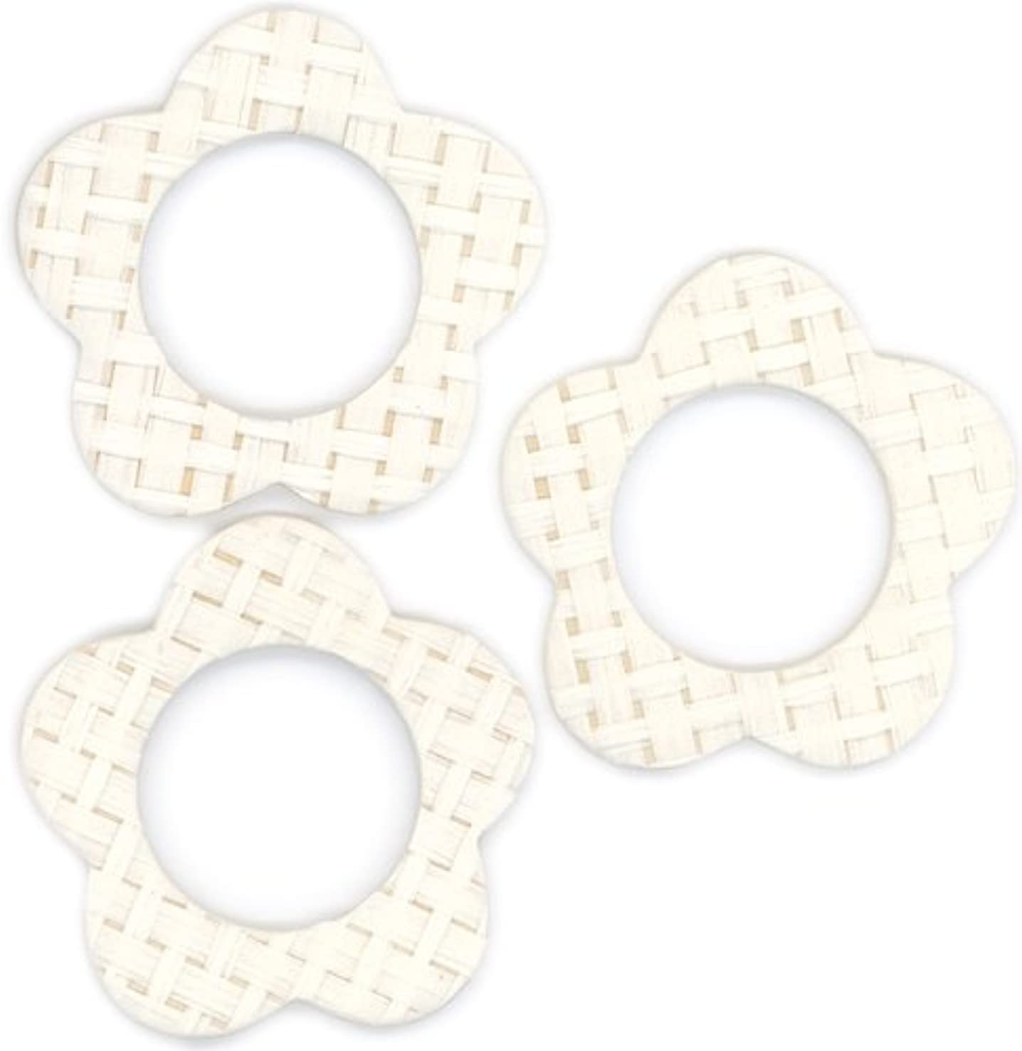 FabScraps Cardstock Mini Frames Cream/Daisy, 3 Per Package