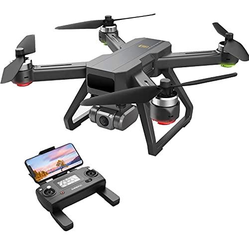 JJDSN Dron GPS con cámara 4K UHD EIS, antivibración, Video en Vivo 5G FPV, 130 Grados;Gran Angular, 90 Ajustable, Motor sin escobillas, Retorno automático a casa, cuadricóptero para Adultos