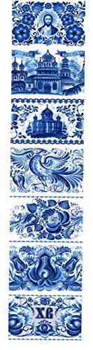 Ukrainisches Kunsthandwerk Ostereier Folie (Nr.24) Gzel/Ostereier verzieren/Eier Farbe/Ostereier dekorieren/Eier färben./EIN Streifen reicht für 7 Eier
