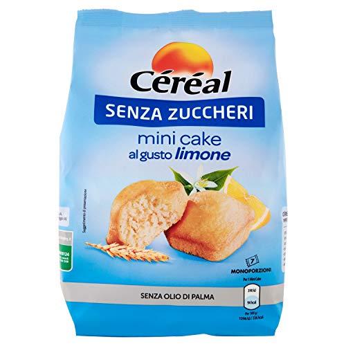Céréal Mini Cake SENZA ZUCCHERI al limone, merendine dolci senza zucchero - 196 g
