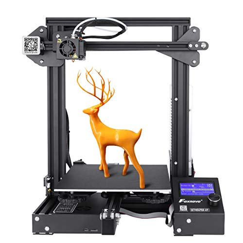 Foxnovo 3D Printer, Ender 3 3D Printer Kit with High Precision, No Warping, Resume Printing for Home...