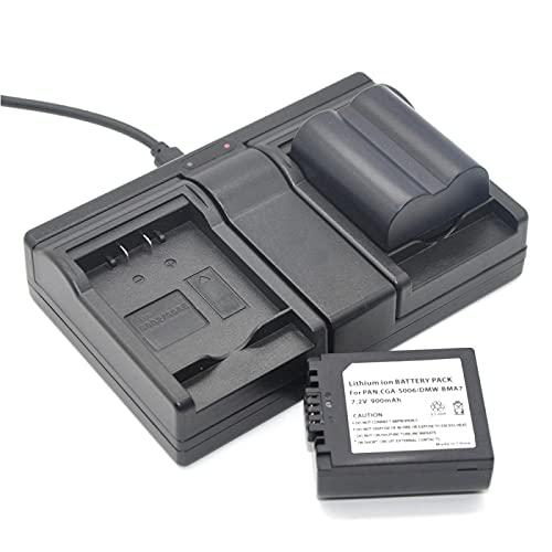 RFGTYH CGA-S006 CGR S006E DMW-BMA7 Batería + Cargador Dual para Panasonic DMC FZ7 FZ8 FZ18 FZ28 FZ30 FZ35 FZ38