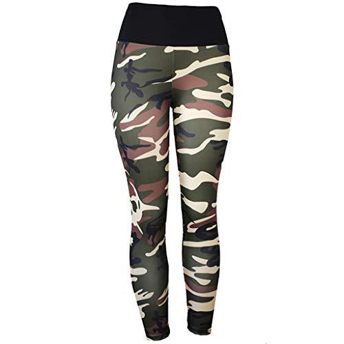 ZYUEER Damen Hosen Frühling Frauen Yogahosen Jeans e Hosen Haremshosen Hoch taillierte Dünne nastik Camouflage Druck Weiche Hosen Stretch Hosen Sporthosen Skinny Leggings (XXL, Grün)