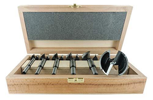 ENT 40306 6-teilig Forstnerbohrer Premium Set geschmiedet, Durchmesser (D) 20-25-30-35-40-50 mm, S 8/10 mm