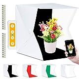 Fotobox, Fotostudio Lichtzelt 40x40cm mit 3 Lichtfarben 140 LED Mini Mobiles Tragbare Tischplatte...