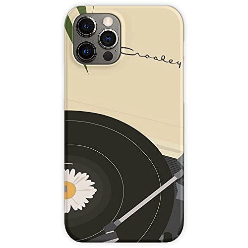 Hengyaai Funda de TPU Pure Clear Phone Cases para Minimalist Crosley Recorder Player Caja del teléfono paraiPhone 12/12 Pro MAX 12 Mini 11 Pro MAX SE X XS MAX XR 8 7 6 6s Plus