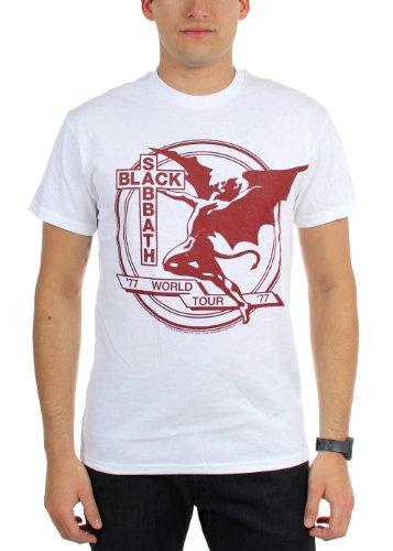Black Sabbath - - World Tour 77 hommes T-shirt, XX-Large, White