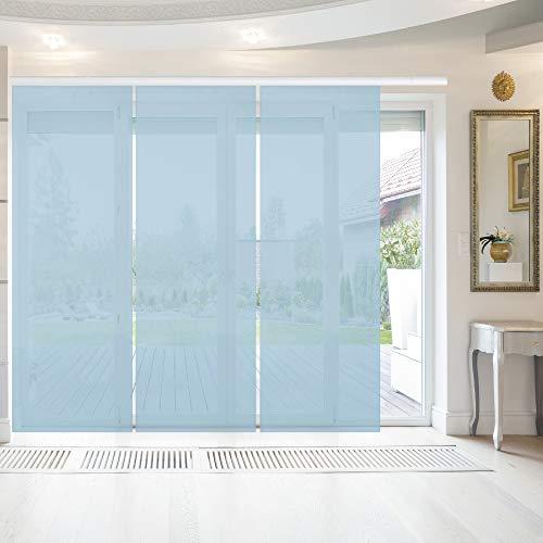 Bestlivings - Tenda a pannello Elena, confezione da 3 pezzi, 60 x 260 cm, colore: Azzurro chiaro