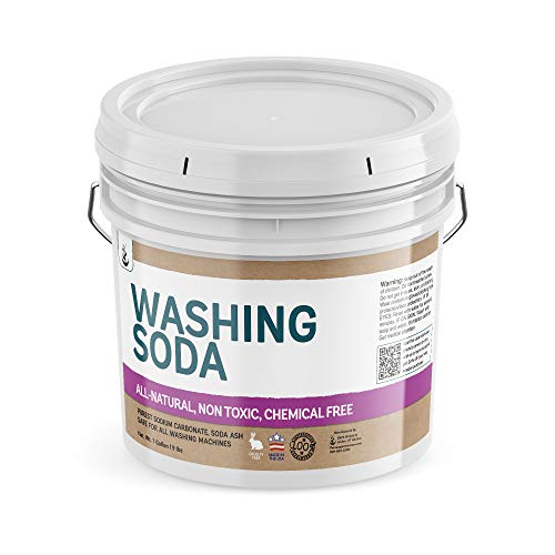 Natural Washing Soda (1 Gallon) Sodium Carbonate, Soda Ash, Stain Remover, Water Softener, Multi-Purpose Cleaner, Resealable Bucket, (Also in 5 Gallon) by Pure