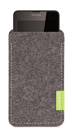WildTech Sleeve für Microsoft Lumia 640 XL Dual SIM Hülle Tasche - 17 Farben (made in Germany) - Grau