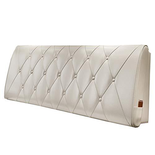 Viunce nachtkastje voor tweepersoonsbed en rugleuning van kunstleer met 5 maten, geschikt voor bed met hoofdeinde