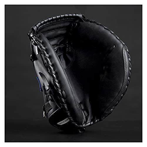 A+TTXH+L Guante béisbol Deportes al Aire Libre marrón Negro CLORURO DE POLIVINILO Catcher de béisbol Guante de Softball Equipo de práctica Tamaño 12.5 Mano Izquierda para Entrenamiento de Adultos #a