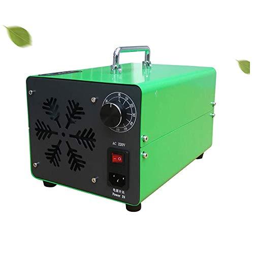 Generador de ozono casero ZXKGLE O3 Máquina de ozono móvil Esterilizador de Aire Comercial Generador de ozono 50㎡ para Interior, hogar, Oficina y Barco-Verde