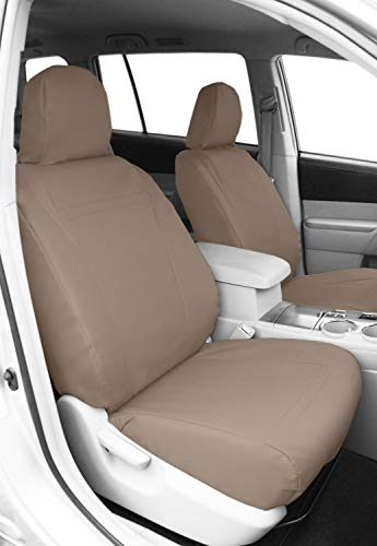 DuraPlus Light Grey Insert and Black Trim CalTrend Rear Row 40//60 Split Bench Custom Fit Seat Cover for Select Nissan Titan Models