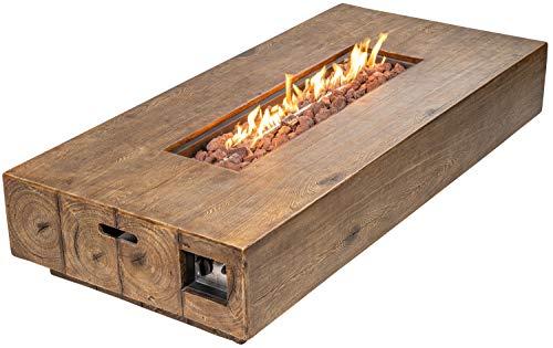 ACTIVA Gas Feuerstelle Gasfeuerstelle Santa Clara Terrasse Garten Kamin Outdoor Gas Feuertisch Gas Terrassenfeuer Feuertisch Outdoor Feuerstelle Gas Outdoor
