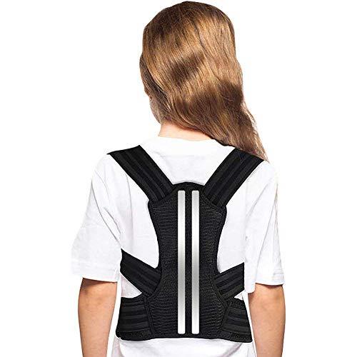 Doact Haltungskorrektur Rücken Geradehalter, Verstellbar Geradehalter zur Haltungskorrektur für Kinder und Jugendliche, Haltungstrainer Rückenstütze mit Weich Schulterpolstern für Kyphose Buckelrücken