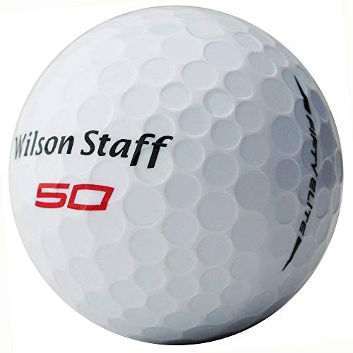 lbc-sports Wilson Staff Fifty Elite Golfbälle - AAAAA - PremiumSelection - Weiß - Lakeballs - gebrauchte Golfbälle (50 Bälle)