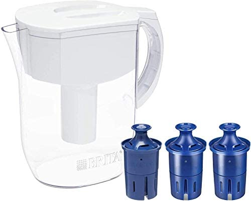 Brita Longlast Everyday Water Filter Pitcher, Large 10 Cup 1 Count, White