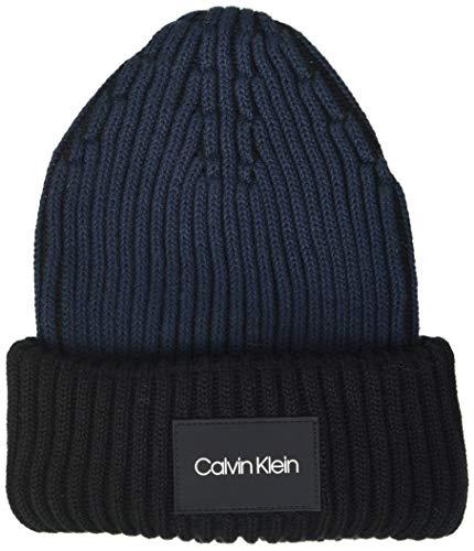 Calvin Klein Herren Beanie Hut, Ck Navy, Einheitsgröße