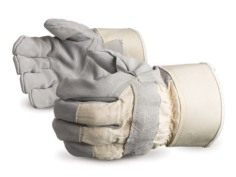 Superior 69BSKFFL Sidekick Premium Split Leather Fitter Glove with Full Kevlar/Fiberglass Liner and Rubberized Safety Cuff, Work, Cut Resistant, 1.4mm Thickness, Large (Pack of 1 Pair)