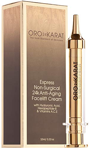 ORO24KARAT Instant Facelift Cream with 24k Gold, Non-Surgical, Fast-Acting Anti-Wrinkle