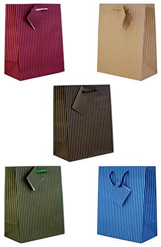 10 Geschenktüten large Streifen 33 x 26 x 13 cm Geschenktaschen Geschenkbeutel Taunus Grußkarten Verlag 99-8568