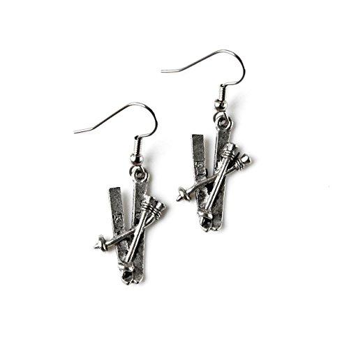 Boucles d oreilles à boucle de ski - Chaussette - Cadeau de mariage - Accessoires - Coffret cadeau inclus