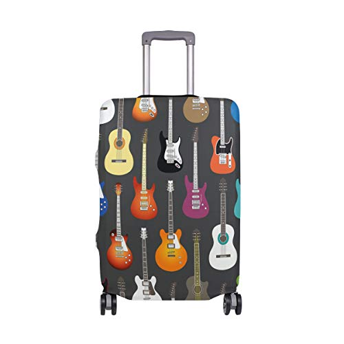 Suitcase Cover Music Guitar Pattern Super Lightweight Luggage Cover Protector fits 18-32 inch