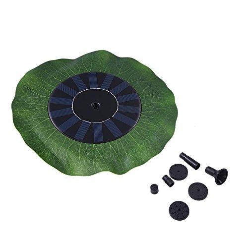 Morningtime Solar-waterpompfontein drijvend sproeiapparaat drijvend lotusbladvorm met zonnecollector-tuinterras 1,4 W voor patio, vod, zwembad en vijver (geen batterij