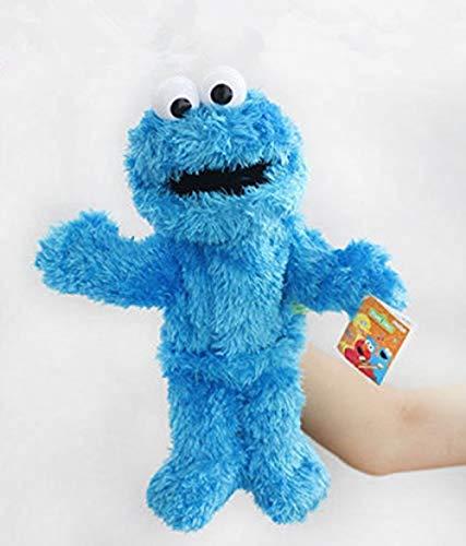 NC56 Juguetes de Peluche Barrio Sésamo Marioneta de Mano Elmo Cookie Grover Zoe Ernie Big Bird Muñeco de Peluche Regalo para niños 32Cm