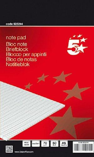 Briefblock A5 70g/qm holzfrei rautiert VE=50 Blatt
