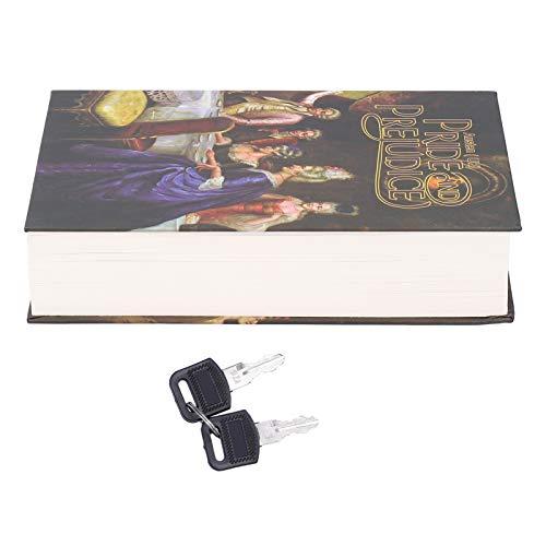 Caja de almacenamiento segura para libros de desvío, innovadora caja de bloqueo de libro simulado con llaves para almacenar dinero en efectivo