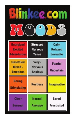 Mood Ring Color Chart for Seventies Mood Rings How Do You Really Feel