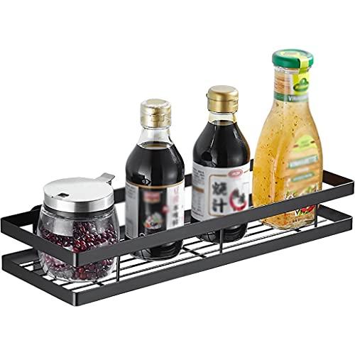 Especieros MultifuncióN Cocina Montado en la Pared Sin Perforaciones Casa Aceite Sal Salsa Vinagre Organizador Puede Soportar 20 kg (Size : 50cm)