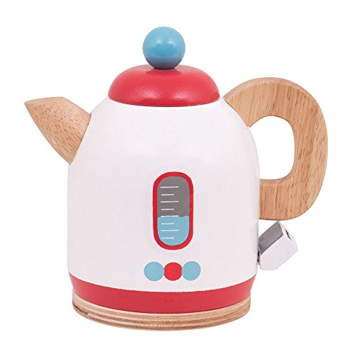 Bigjigs Toys Wooden Kettle - Pretend Role Play Kitchen Accessories